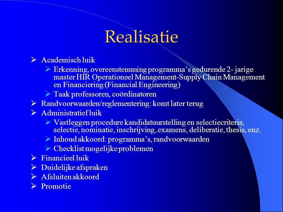 DD HEC-ULg – Sapienza - Università di Roma  DD in Management (Banking and Asset Management)  Alle studenten tijdens M1 in Rome en tijdens M2 in Luik  Bij niet slagen: gewone Erasmusuitwisseling, geen dubbel diploma