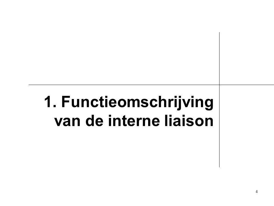 4 1. Functieomschrijving van de interne liaison