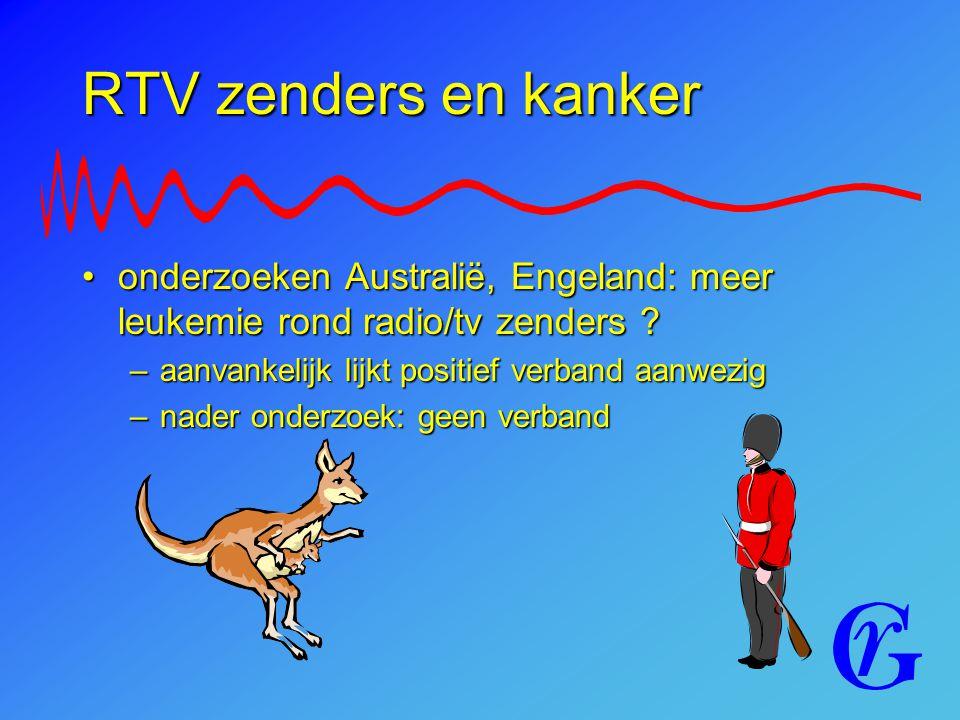 RTV zenders en kanker onderzoeken Australië, Engeland: meer leukemie rond radio/tv zenders ?onderzoeken Australië, Engeland: meer leukemie rond radio/