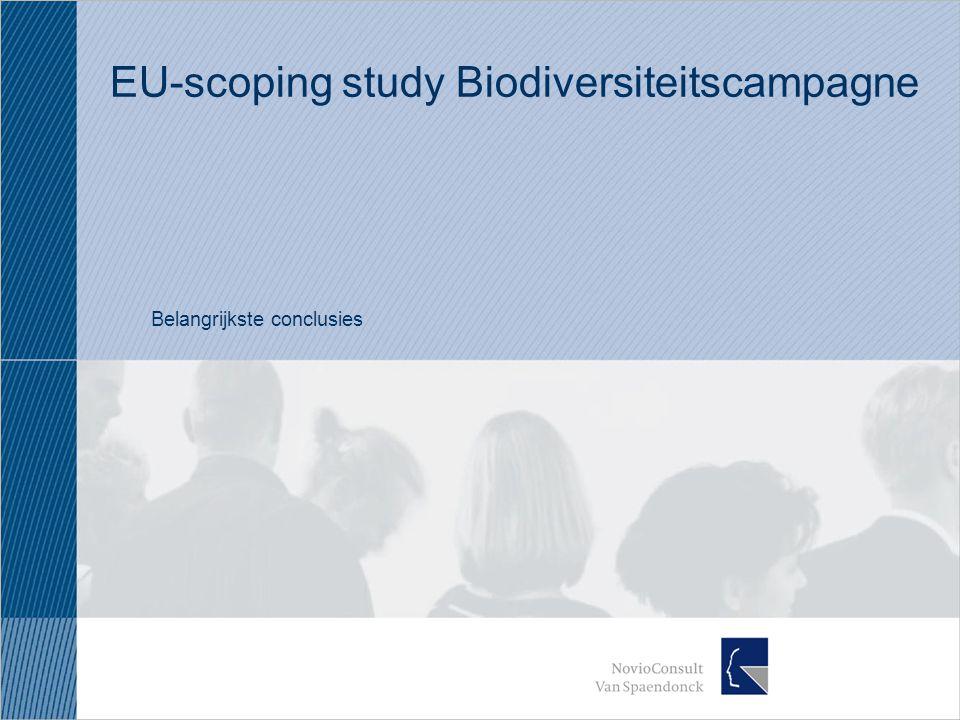 EU-scoping study Biodiversiteitscampagne Belangrijkste conclusies