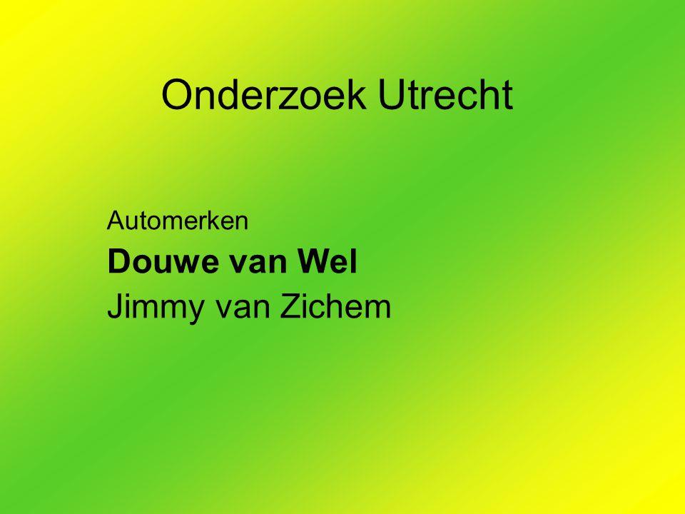Onderzoek Utrecht Automerken Douwe van Wel Jimmy van Zichem
