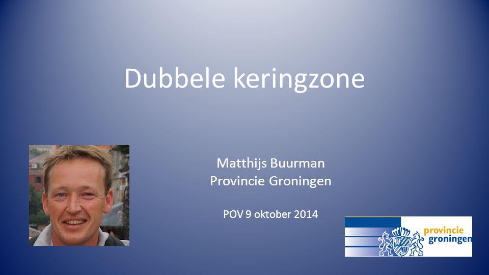 Dubbele keringzone Matthijs Buurman Provincie Groningen POV 9 oktober 2014