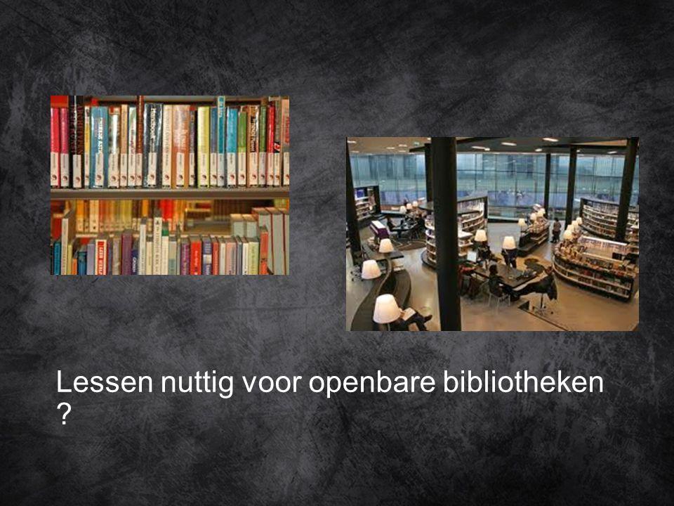 Lessen nuttig voor openbare bibliotheken
