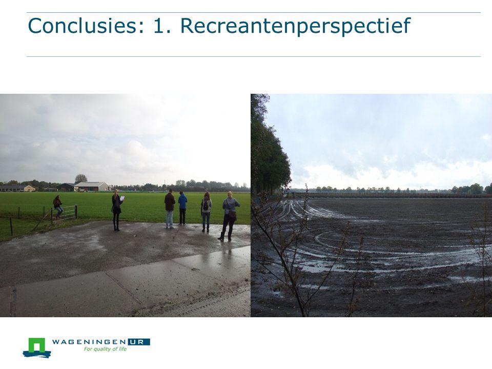 Conclusies: 1. Recreantenperspectief