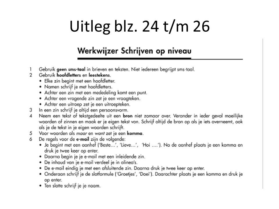 Uitleg blz. 24 t/m 26