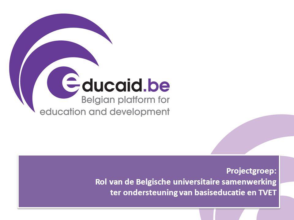 Projectgroep: Rol van de Belgische universitaire samenwerking ter ondersteuning van basiseducatie en TVET