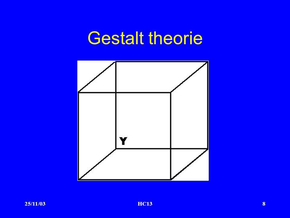 25/11/03HC138 Gestalt theorie
