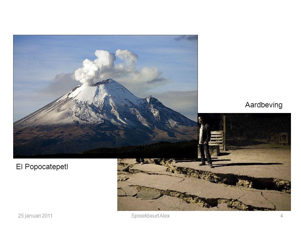 25 januari 2011Spreekbeurt Alex4 El Popocatepetl Aardbeving