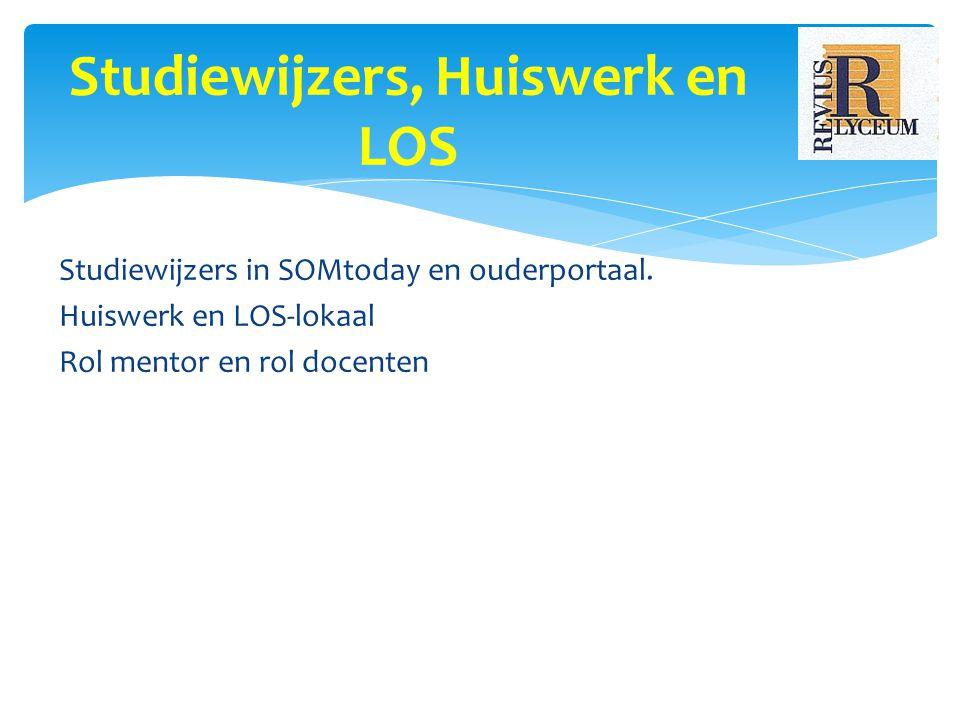 Studiewijzers in SOMtoday en ouderportaal.