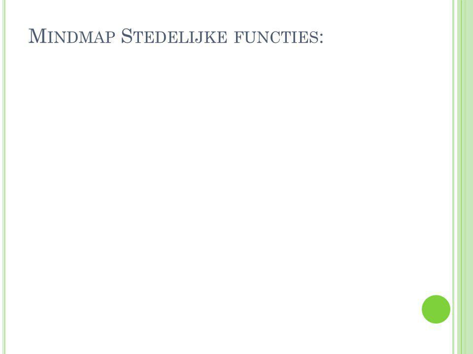 M INDMAP S TEDELIJKE FUNCTIES :