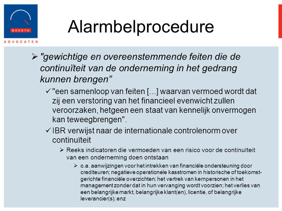 Alarmbelprocedure 