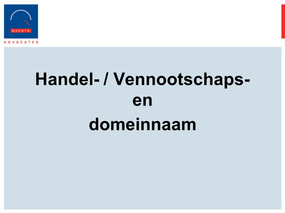Handel- / Vennootschaps- en domeinnaam