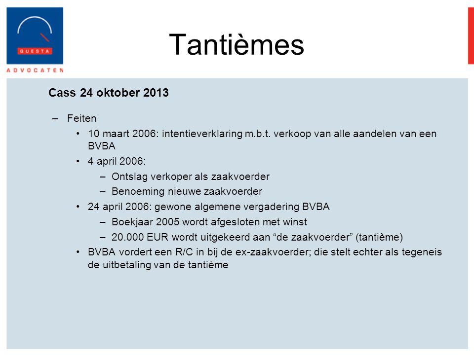 Cass 24 oktober 2013 –Feiten 10 maart 2006: intentieverklaring m.b.t.