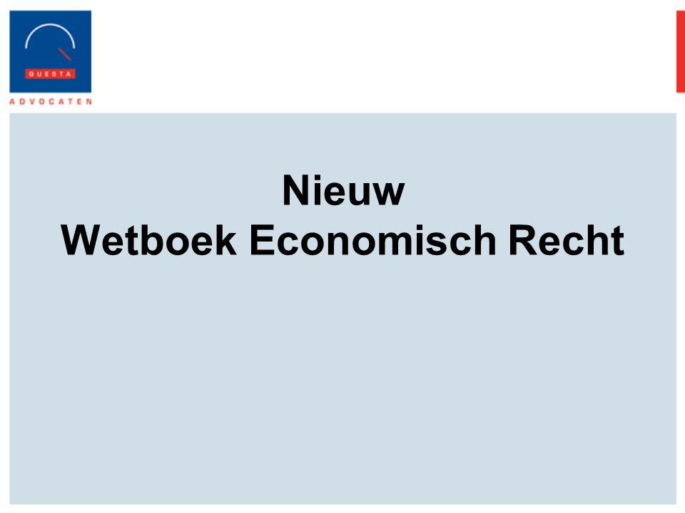 Nieuw Wetboek Economisch Recht