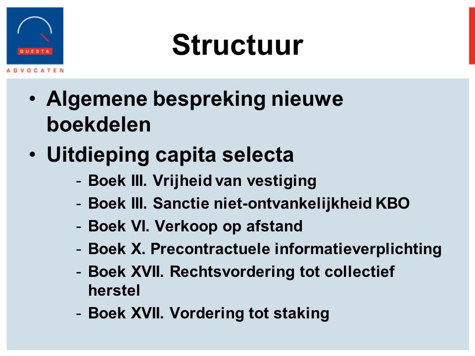Structuur Algemene bespreking nieuwe boekdelen Uitdieping capita selecta -Boek III.