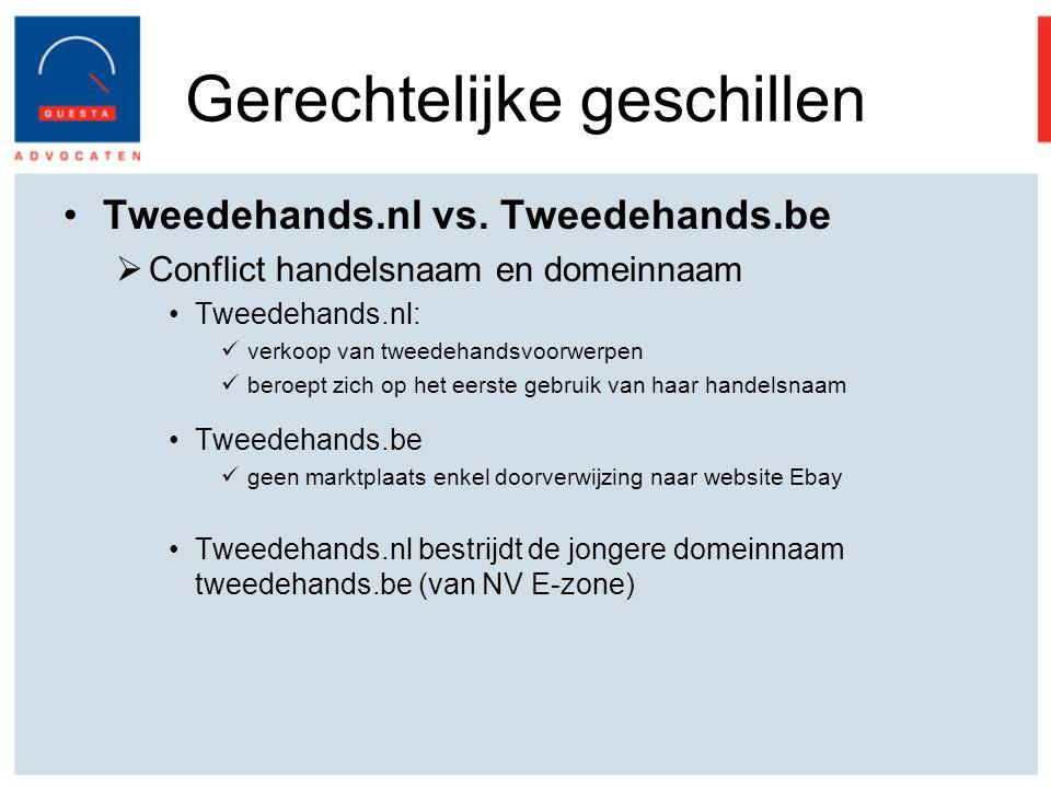 Gerechtelijke geschillen Tweedehands.nl vs.