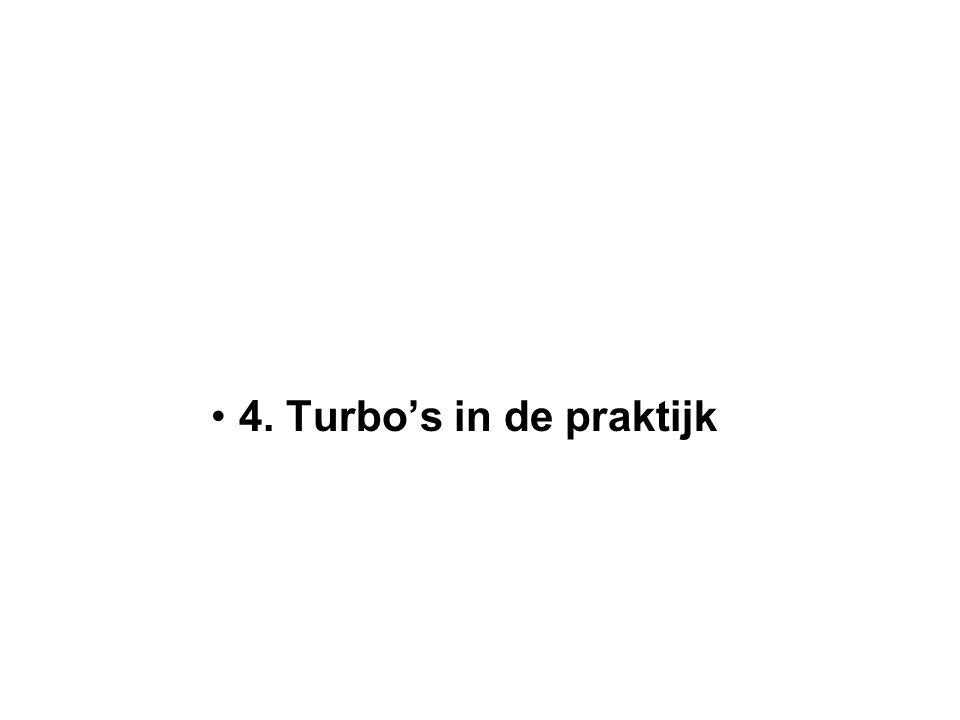4. Turbo's in de praktijk