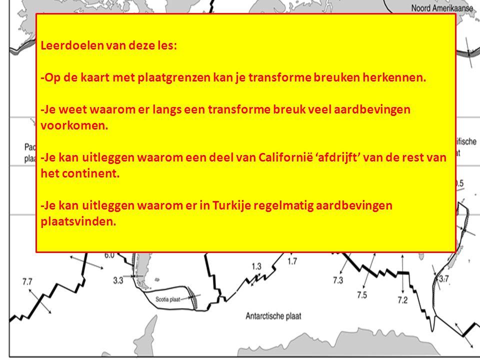 Transforme breuken Leerdoelen van deze les: -Op de kaart met plaatgrenzen kan je transforme breuken herkennen. -Je weet waarom er langs een transforme