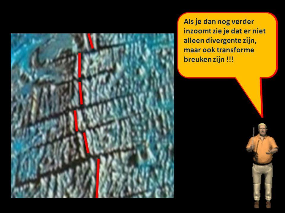 Op de kaart van blz 10 in je werkboek heb je gezien dat er grote spreidingszones lopen door de oceanen.
