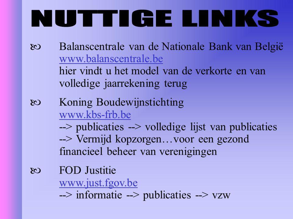 Balanscentrale van de Nationale Bank van België www.balanscentrale.be hier vindt u het model van de verkorte en van volledige jaarrekening terug Konin