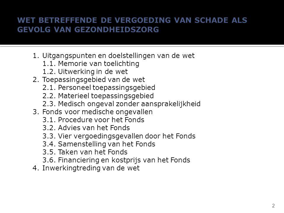1.Uitgangspunten en doelstellingen van de wet 1.1.