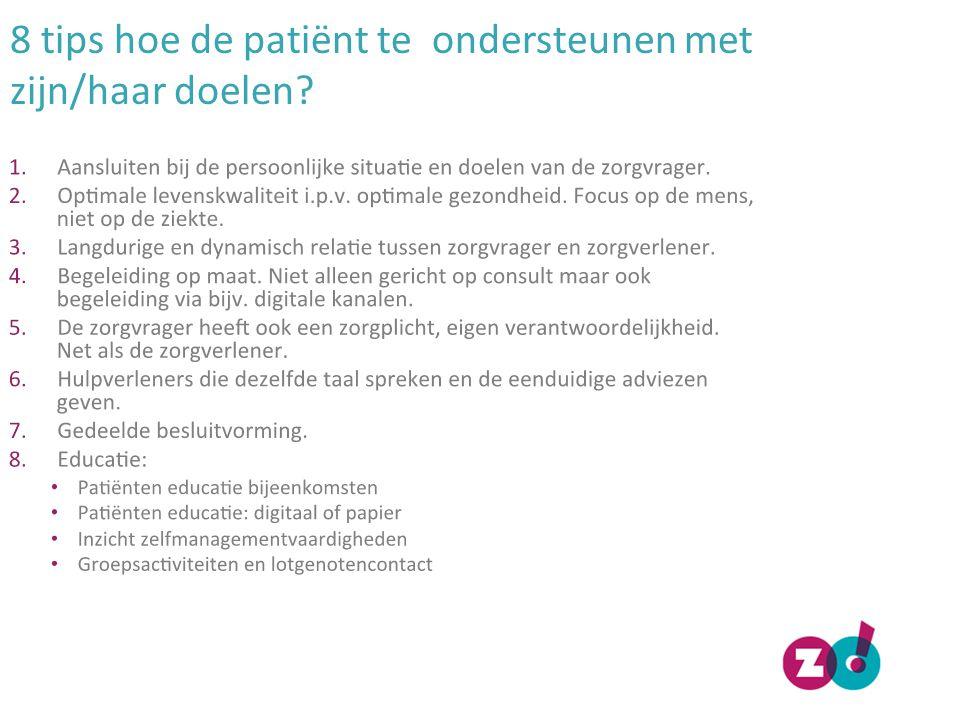 8 tips hoe de patiënt te ondersteunen met zijn/haar doelen?