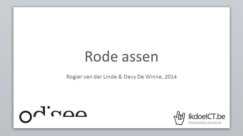 Rode assen Rogier van der Linde & Davy De Winne, 2014