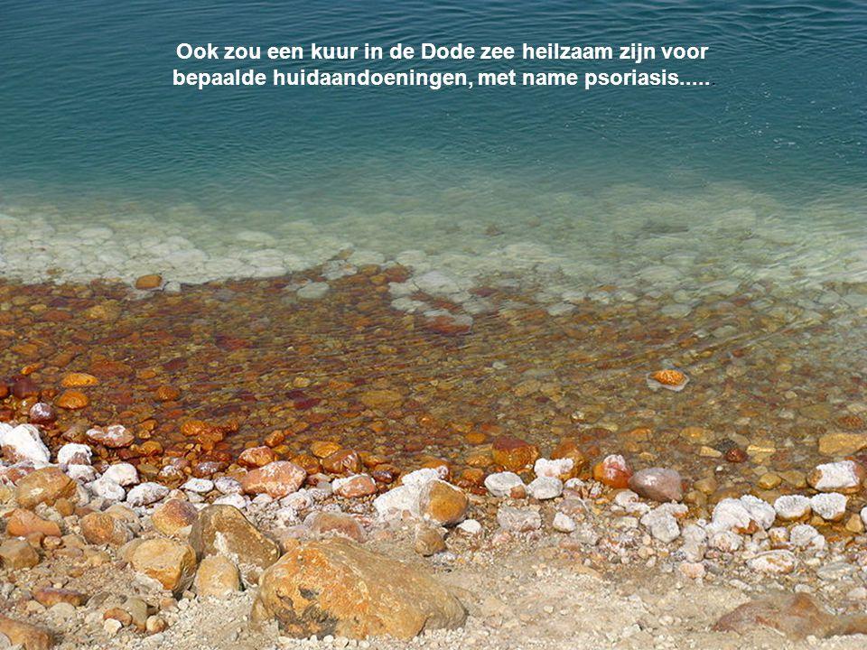 Ook zou een kuur in de Dode zee heilzaam zijn voor bepaalde huidaandoeningen, met name psoriasis......