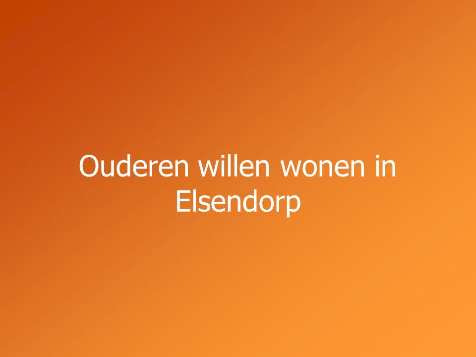 Ouderen willen wonen in Elsendorp