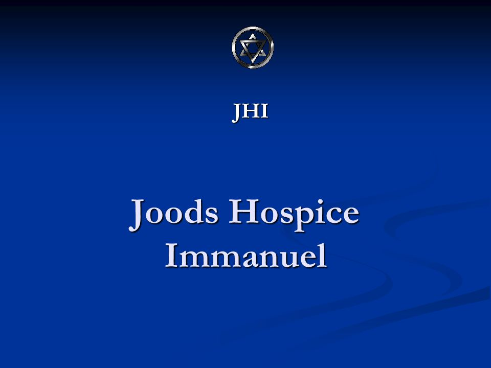 Joods Hospice Immanuel JHI