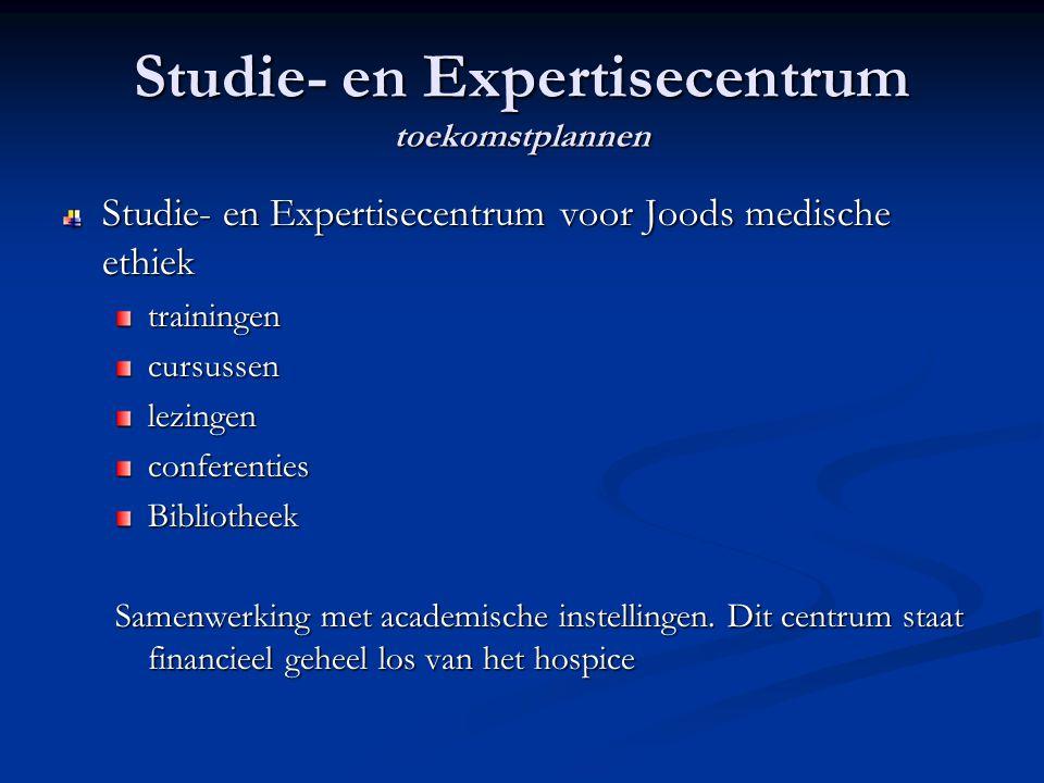 Studie- en Expertisecentrum toekomstplannen Studie- en Expertisecentrum voor Joods medische ethiek trainingencursussenlezingenconferentiesBibliotheek