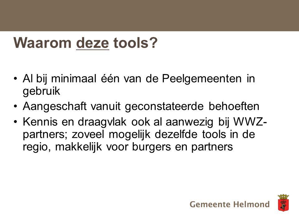 Waarom deze tools.