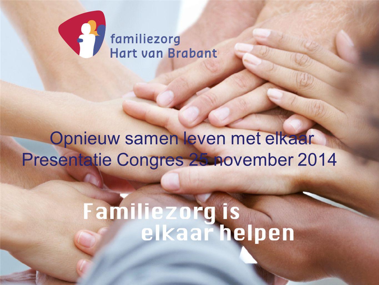 Opnieuw samen leven met elkaar Presentatie Congres 25 november 2014