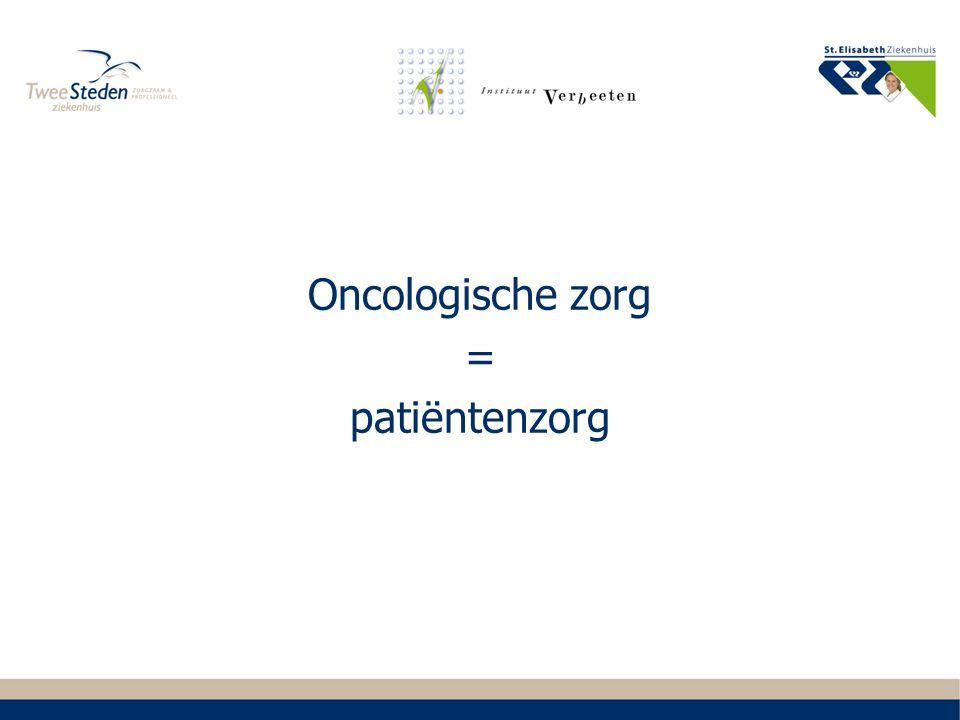 Oncologische zorg = patiëntenzorg