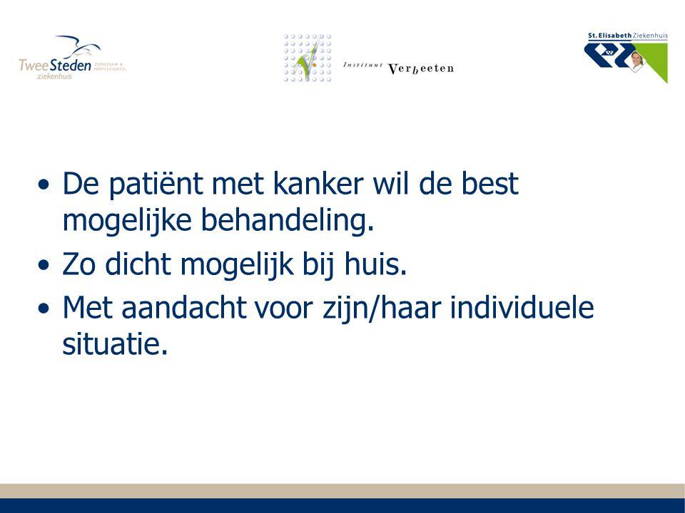 Missie oncologie ETZ Zorg is rondom de patiënt georganiseerd: persoonlijk; innovatief; van kwalitatief topklinisch niveau.