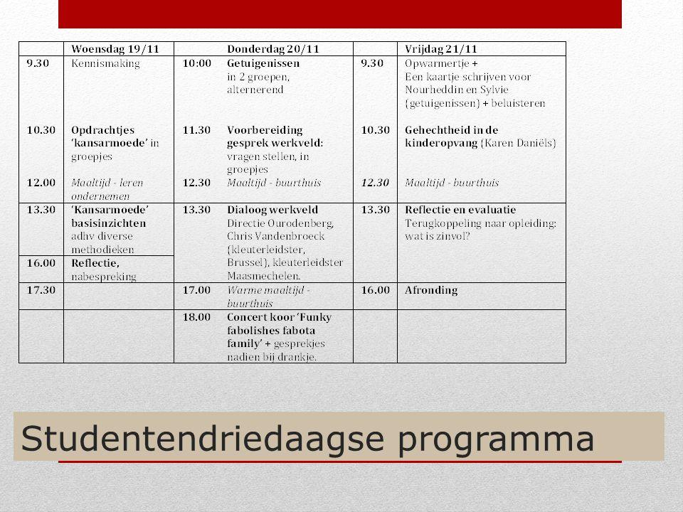 Studentendriedaagse programma
