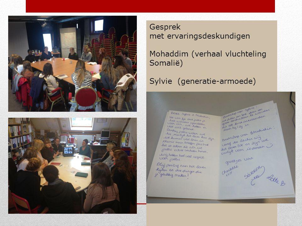 Gesprek met ervaringsdeskundigen Mohaddim (verhaal vluchteling Somalië) Sylvie (generatie-armoede)