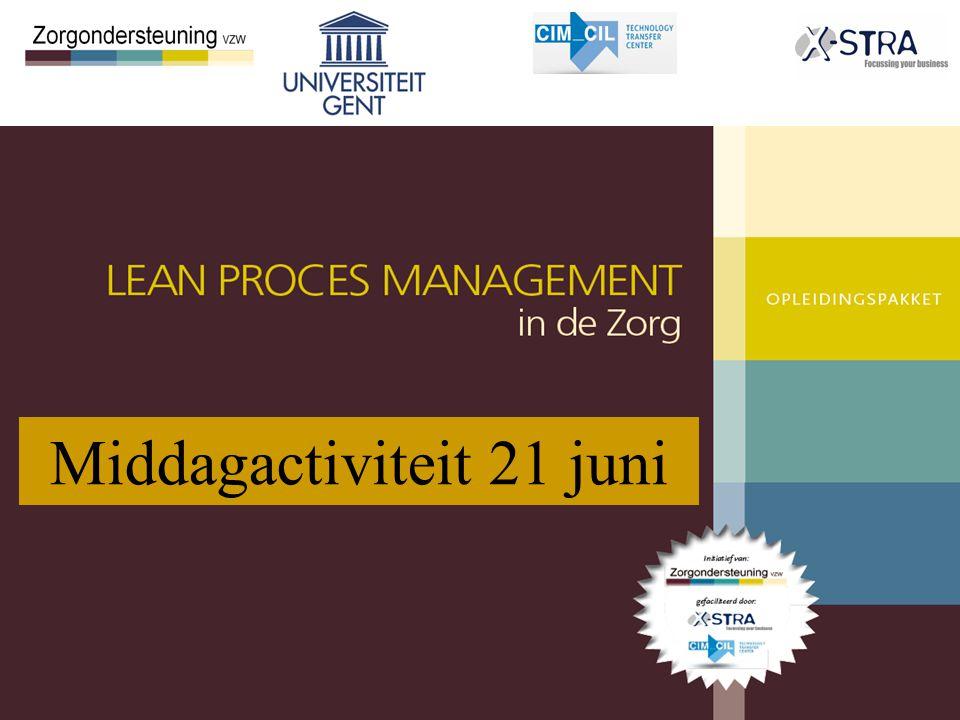 © R. Van Landeghem, 2012. Industrial Management 1 Middagactiviteit 21 juni