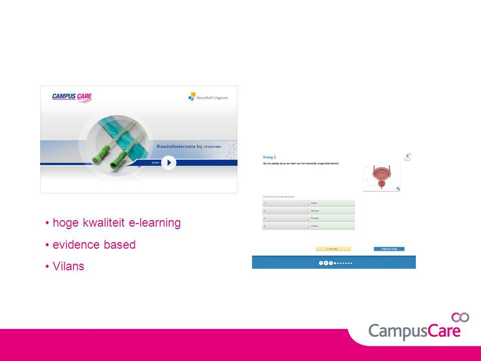 hoge kwaliteit e-learning evidence based Vilans