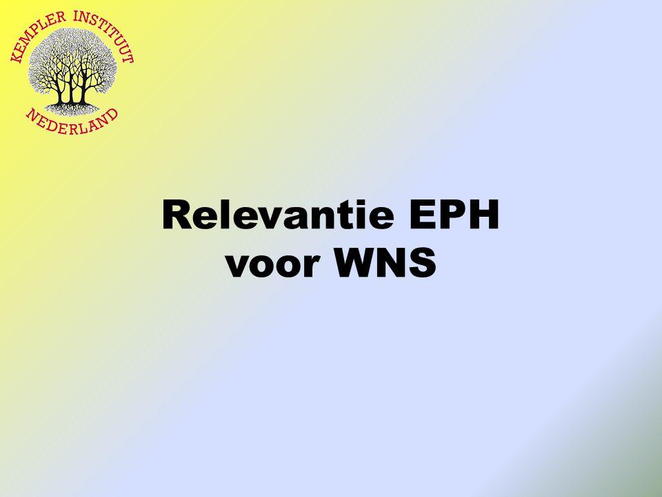 Relevantie EPH voor WNS