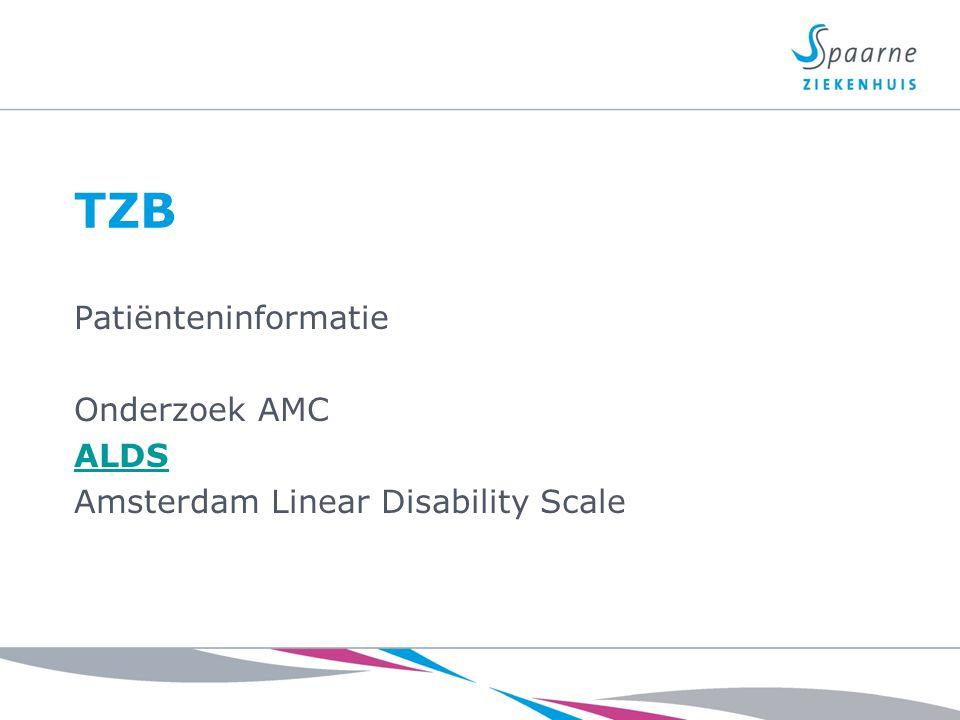 TZB Patiënteninformatie Onderzoek AMC ALDS Amsterdam Linear Disability Scale