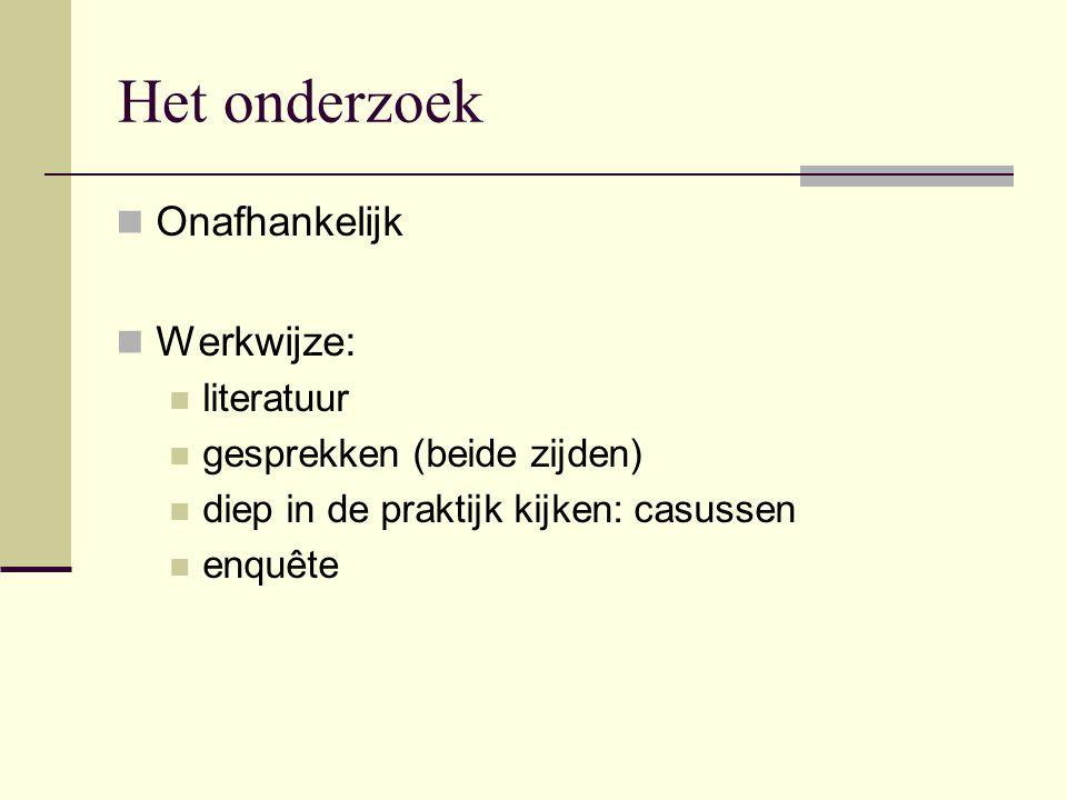Het onderzoek Casussen: polder Mastenbroek 1, 2 en 3 (Overijssel) Zuidhorn 1 en 2 (Groningen) Westfriesche Vaart (Noord-Holland) Prestatiemeten bij Rijkswaterstaat De Volgerlanden (Hendrik-ido-Ambacht) Hoeksche Waard (Zuid-Holland) Hondsrugkanaal (Drenthe)