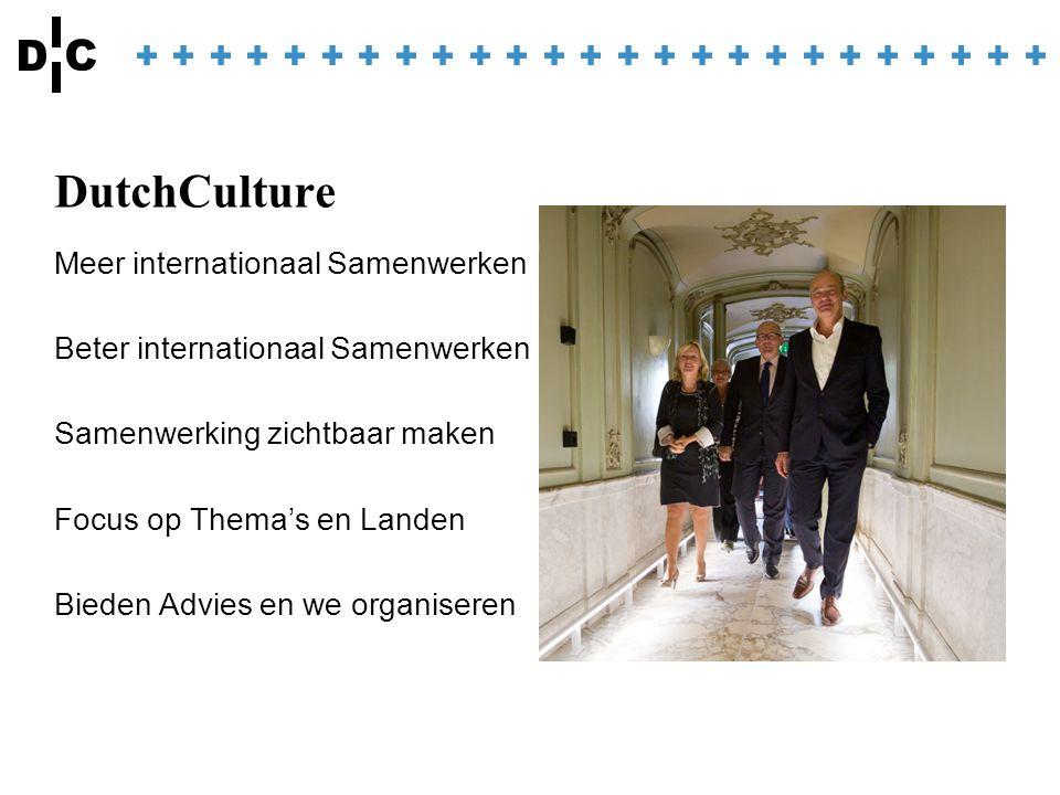Contact Mareile Zuber m.zuber@dutchculture.nl Anouk Fienieg a.fienieg@dutchculture.nl www.dutchculture.nl
