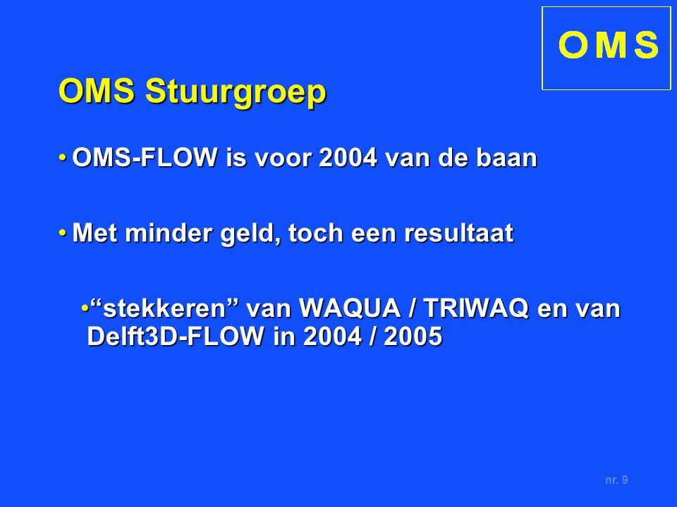 nr. 9 OMS Stuurgroep OMS-FLOW is voor 2004 van de baanOMS-FLOW is voor 2004 van de baan Met minder geld, toch een resultaatMet minder geld, toch een r