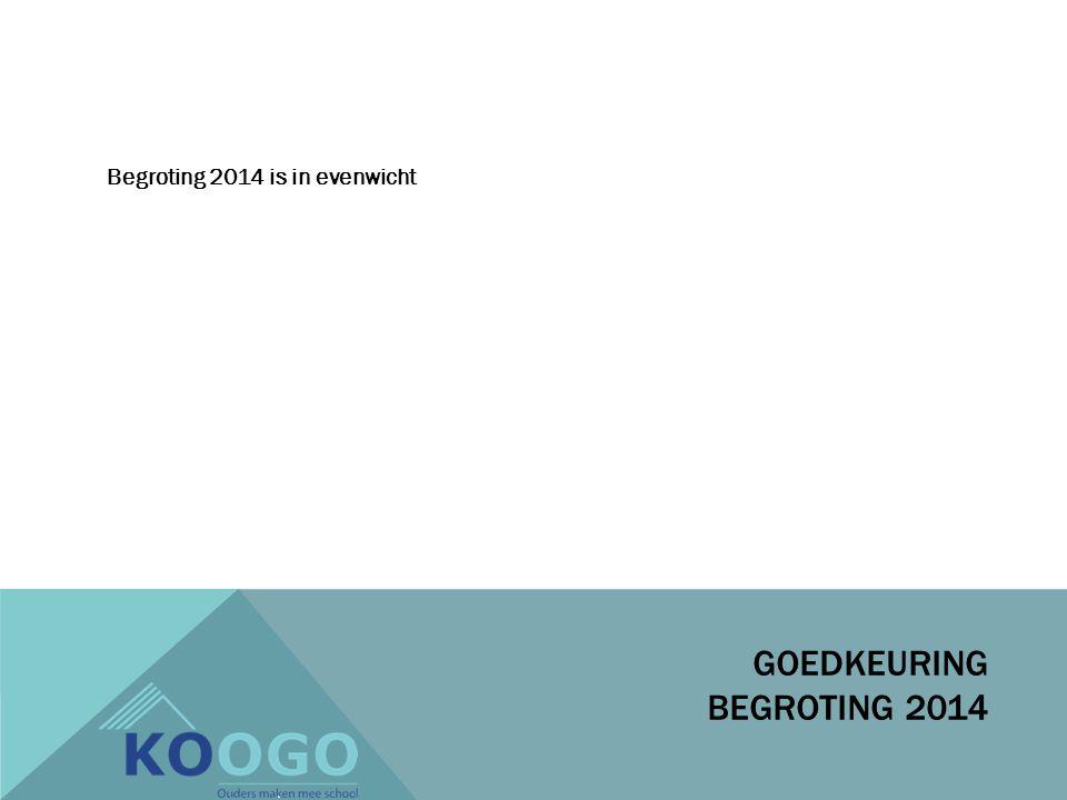 Begroting 2014 is in evenwicht GOEDKEURING BEGROTING 2014