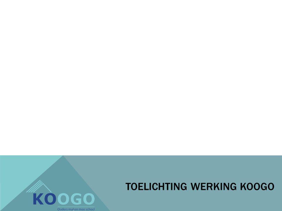 TOELICHTING WERKING KOOGO