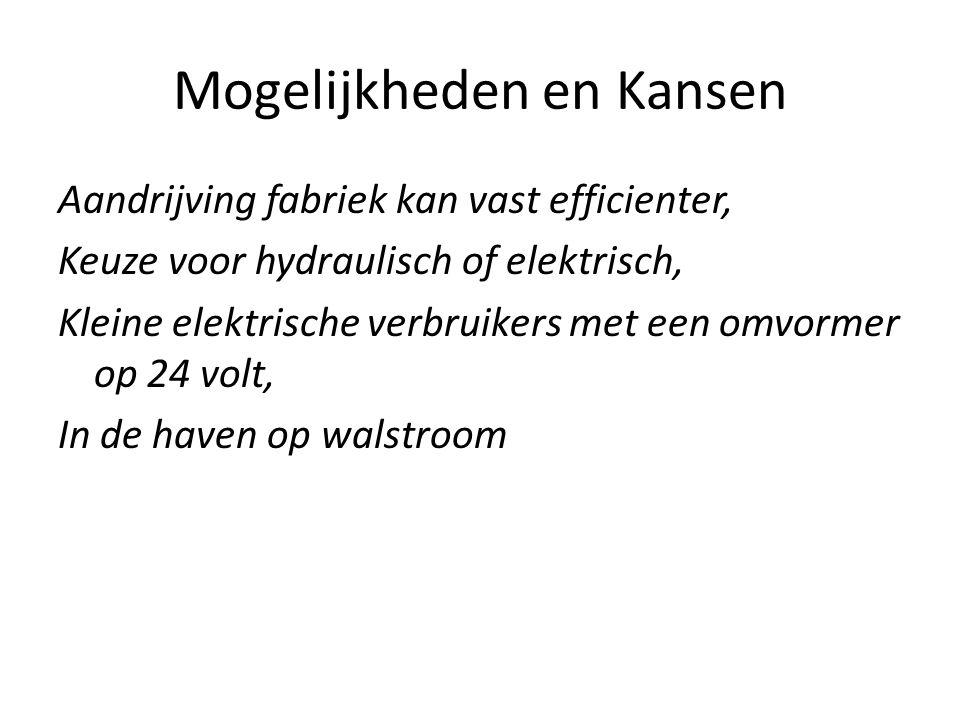 Aandrijving fabriek kan vast efficienter, Keuze voor hydraulisch of elektrisch, Kleine elektrische verbruikers met een omvormer op 24 volt, In de haven op walstroom