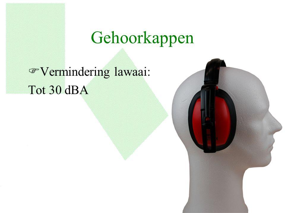 Gehoorkappen FVermindering lawaai: Tot 30 dBA 12