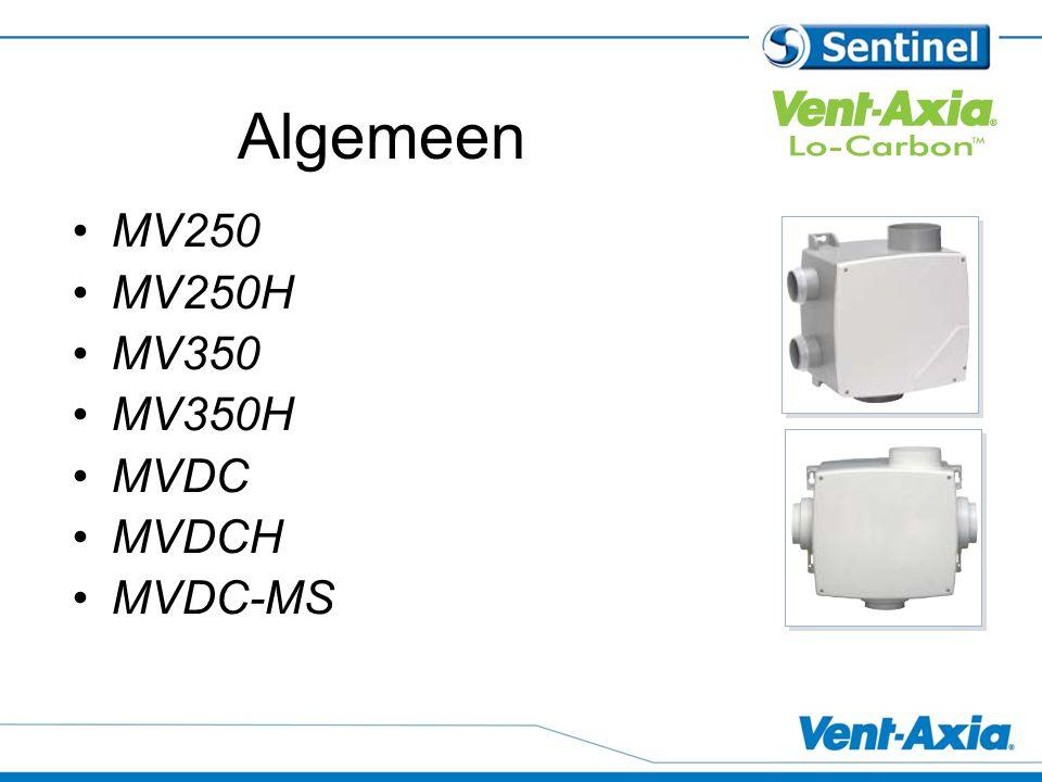 Algemeen MV250 MV250H MV350 MV350H MVDC MVDCH MVDC-MS