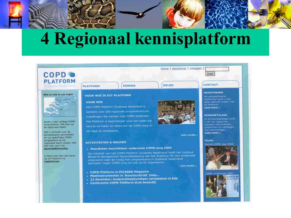 4 Regionaal kennisplatform
